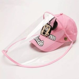🍒MINNIE MOUSE CAP FACE SHIELD FULL PROTECTION HAT